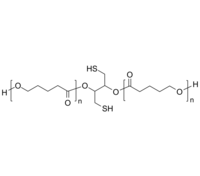 PVL-2SH 聚戊内酯-双硫醇 链中间双巯基 生物降解高分子 Poly(δ-valerolactone), with dithiol group in center of polymer chain