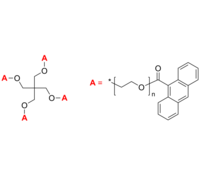 4-Arm PEG-An 4臂星形-聚乙二醇-蒽 荧光标记 Poly(ethylene oxide), (anthracen-9-yl)-terminated 4-arm star polymer