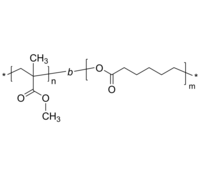 PMMA-PCL 二嵌段共聚物 聚甲基丙烯酸甲酯-聚己内酯 Poly(methyl methacrylate)-b-poly(ε-caprolactone)