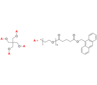 4-Arm PEG-An 4臂星形-聚乙二醇-蒽 荧光 Poly(ethylene oxide), (anthracen-9-yl glutarate)-terminated 4-arm star
