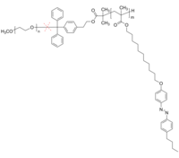 Polymer Source 二嵌段共聚物 酸裂解 PEO-PAZOMA-cleavable [linker: dibenzene-phenyl] | acid-cleavable