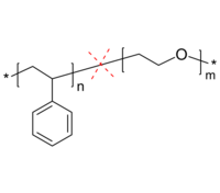 PS-PEO-cleavable 酸裂解两亲性二嵌段共聚物 聚苯乙烯-聚环氧乙烷 Poly(styrene)-b-poly(ethylene oxide), acid-cleavable