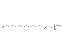 NH2-PEG-(CH2)11SH 氨基-聚乙二醇-十一烷基硫醇 Poly(ethylene glycol), (α-undecyl thiol, ω-amino)-terminated