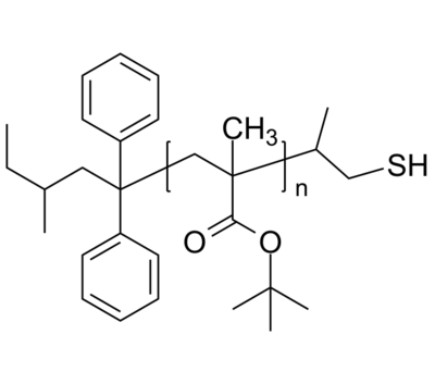 PtBuMA-SH 聚甲基丙烯酸叔丁酯-硫醇 Poly(tert-butyl methacrylate), ω-thiol-terminated