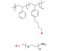 PS-g-PEO-NH2 接枝共聚物 聚苯乙烯-聚乙二醇-胺 Poly(styrene)-graft-poly(ethylene oxide), PEO is amino-terminated