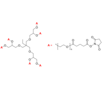 6-Arm PEG-SG 6臂星形-聚乙二醇-琥珀酰亚胺戊二酸酯 Poly(ethylene oxide), (succinimidyl glutarate)-term