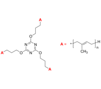 3-Arm PIP 3臂星形-聚异戊二烯 Poly(isoprene), 3-arm star polymer / Core: 2,4,6-tripropoxy-1,3,5-triazine