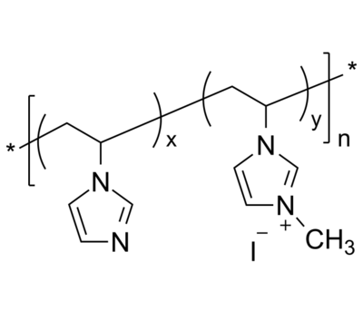 PVIMDZQ 聚(N-乙烯基咪唑)-碘化甲酯季铵化 两性离子聚合物 Poly(N-vinyl imidazole, quaternized with methyl iodide)