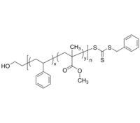 HO-PSMMAran-RAFT 羟基-聚苯乙烯共甲基丙烯酸甲酯-RAFT Poly(styrene-co-methyl methacrylate), (α-hydroxy, ω-RAFT)-term
