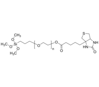 Biotin-PEG-TMS 生物素-聚乙二醇-三甲氧基硅烷 Poly(ethylene glycol), (α-trimethoxysilyl, ω-Biotinyl)-terminated