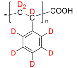 dPS-COOH 氘化聚苯乙烯-d8, ω-羧基 Deuterated Poly(styrene-d8), ω-carboxy-terminated