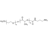 mPEG-PLA-NH2 聚乙二醇-聚乳酸(聚丙交酯)-氨基 两亲性二嵌段共聚物 Poly(ethylene oxide)-b-poly(lactide), ω-amino-terminated