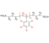 dPS-2SO3H 氘化聚苯乙烯-d8, α,ω-双磺酸 Deuterated Poly(styrene-d8), α,ω-bis(sulfonic acid)-terminated
