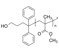PMMA-OH 聚甲基丙烯酸甲酯-羟丙基 Poly(methyl methacrylate), α-hydroxypropyl-terminated
