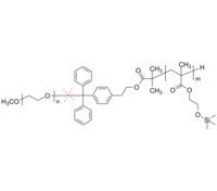 PEO-cleav-PHEMATMS | Poly(ethylene oxide)-b-poly(trimethylsiloxy-2-ethyl methacrylate) | 酸裂解 二嵌段共聚物