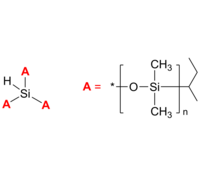 3-Arm PDMS 3臂星形-聚二甲基硅氧烷 Poly(dimethyl siloxane), 3-arm star polymer / Core: silane
