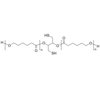 PCL-2SH 聚己内酯-双硫醇 链中间双巯基 生物降解高分子 Pioly(ε-caprolactone), with dithiol group in center