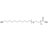 HOOC-PEG-C11-SH 羧基-聚乙二醇-十一烷基硫醇 Poly(ethylene glycol), (α-undecyl thiol, ω-carboxy)-terminated