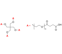 4-Arm PEG-COOH 4臂星形-聚乙二醇-羧酸 Poly(ethylene oxide), (carboxy [succinic acid])-terminated 4-arm star