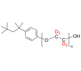 dPEO-TOP 氘化聚(乙二醇-d4)-叔辛基苯醚, ω-羟基 Deuterated Poly(ethylene glycol-d4) tert-octylphenyl ether