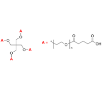 4-Arm PEG-COOH 4臂星形-聚乙二醇-羧酸 Poly(ethylene oxide), (carboxy [glutaric acid])-terminated 4-arm star