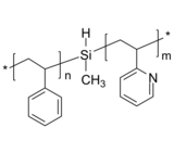 PS-SiH-P2VP 聚苯乙烯-硅烷基-聚(2-乙烯基吡啶) Poly(styrene)-b-poly(2-vinyl pyridine), with silyl group